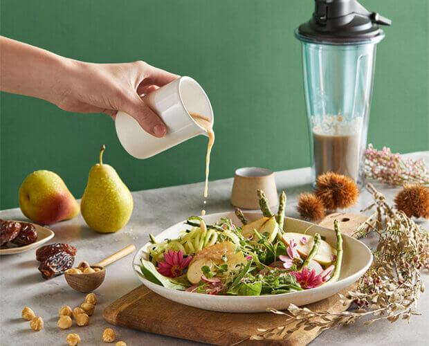 Paahdettu hasselpähkinä-päärynäkastike
